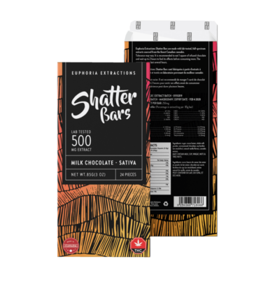 Milk Chocolate Sativa 500mg Shatter Bar